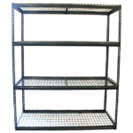 "Power Record Archive Rivet Shelving - 42"" x 30"" x 5', Wire Decks"